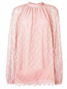 Giamba lace longsleeved blouse - Pink