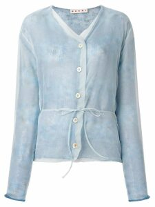 Marni V-neck button cardigan - Blue