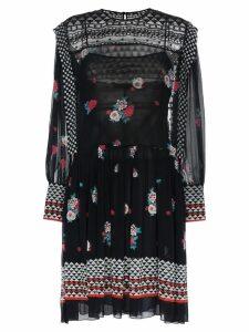 Philosophy Di Lorenzo Serafini floral print drop waist dress - Black