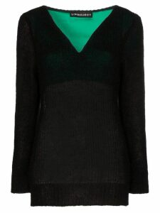 Y/Project V-Neck Knitted Jumper - Black