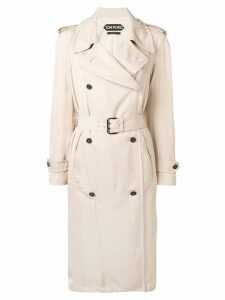 Tom Ford double breasted belted trench coat - NEUTRALS