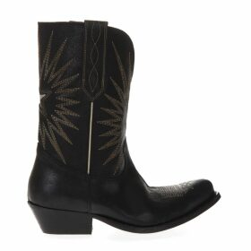 Golden Goose Black Texan Leather Boots