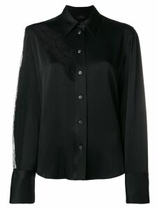 Joseph lace insert detail shirt - Black