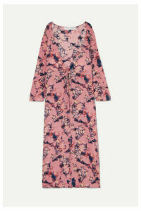 IRO - Adorable Printed Crepe De Chine Robe - Pink