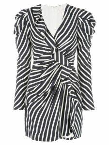 Jonathan Simkhai striped ruffle mini dress - Blue