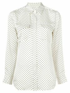 Equipment star print slim fit shirt - White
