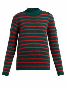 Calvin Klein - Striped Wool Sweater - Womens - Green Multi