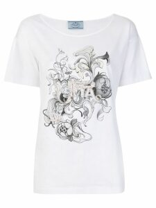 Prada embellished T-shirt - White