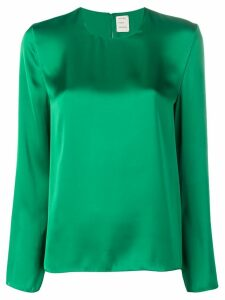 Maison Rabih Kayrouz sheen long sleeve blouse - Green