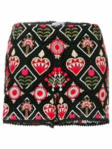 RedValentino embroidered shorts - Black