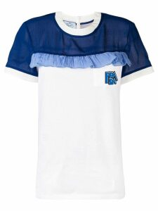 Prada T-shirt with ruffle detail - White