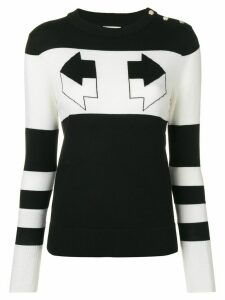 Temperley London Aggie intarsia sweater - Black