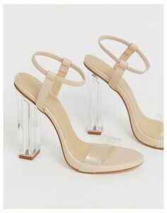 Truffle Collection clear heeled sandals