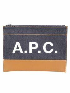 P.C.A.c. Logo Print Clutch