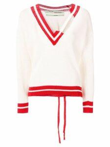 Off-White oversized cricket jumper