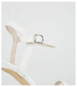White Glitter 2 Part Stiletto Heels New Look