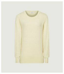 Reiss Abella - Wool Cashmere Blend Jumper in Lemon, Womens, Size XXL