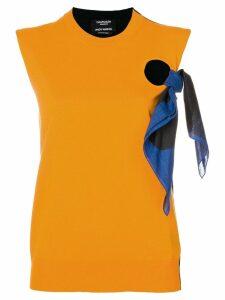 Calvin Klein 205W39nyc Calvin Klein x Andy Warhol tie detail top -