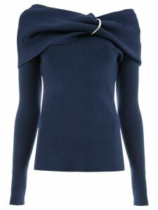 Monse gathered off the shoulder sweater - Blue