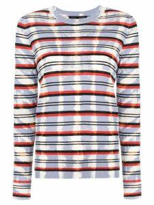 Proenza Schouler Tie Dye Striped Knit Top - PINK