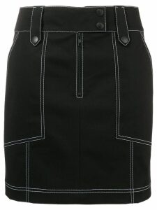 Kenzo contrast stitch mini skirt - Black