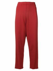 Raquel Allegra cropped high waisted trousers - Red