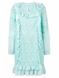 Giamba ruffle trim floral dress - Green
