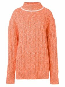 Cashmere In Love cable knit sweater - Orange