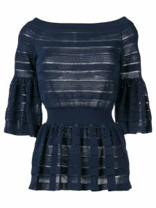 Antonino Valenti decorative perforations top - Blue