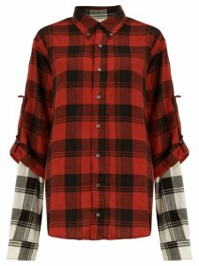 Faith Connexion layered plaid shirt