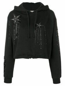 Amen star detailed hoodie - Black