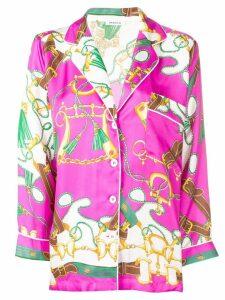 P.A.R.O.S.H. printed 3/4 sleeves shirt - Pink
