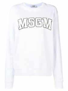 MSGM logo sweatshirt - White