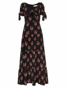 Borgo De Nor ophelia floral print silk dress - Black
