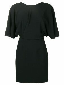Saint Laurent v-back fitted dress - Black