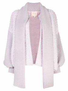 Roksanda zipped-up knit cardigan - PURPLE