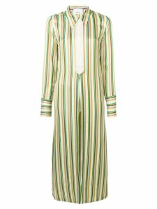3.1 Phillip Lim Striped Long Shirt-Jacket - NEUTRALS