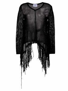 Dondup fringed open knit jumper - Black