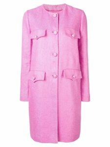 Ermanno Scervino single breasted midi coat - PINK