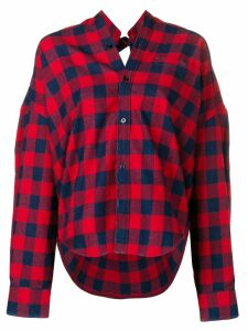 Balenciaga Swing check shirt - Red