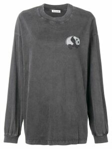 Balenciaga long sleeve panda T-shirt - Black
