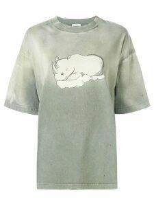 Balenciaga rhino print t-shirt - Grey