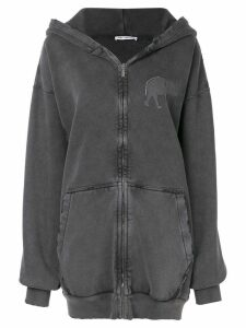 Balenciaga elephant zip-up hoodie - Black