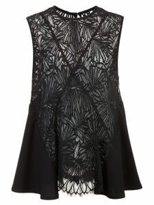 Proenza Schouler Lace Sleeveless Top - Black