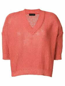 Roberto Collina shortsleeved knit top - ORANGE