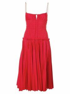 Khaite ruched slip midi dress - Red