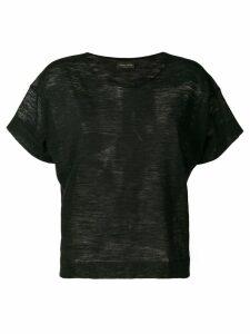 Roberto Collina scoop neck T-shirt - Black