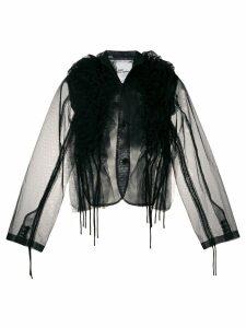 Comme Des Garçons Noir Kei Ninomiya ruffled sheer blouse - Black