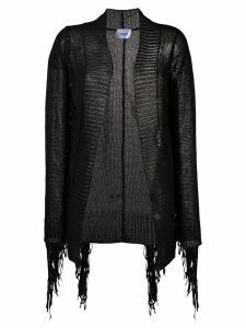 Dondup fringed open knit cardigan - Black