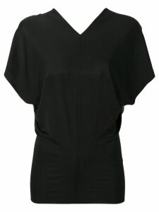 Poiret draped back blouse - Black